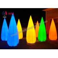 Quality Custom Oxford Fabric Cone Inflatable Event Decoration With Colorful Led Light wholesale