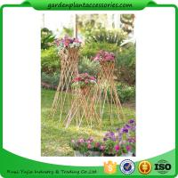 """Quality Outdoor Bamboo Garden Willow Garden Trellis 4"""" In Diameter On A 57-1/4"""" H Stand wholesale"""