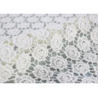 Quality Cotton Dying Lace Fabric Guipure French Venice Lace Wedding Dress Fabric Openwork wholesale