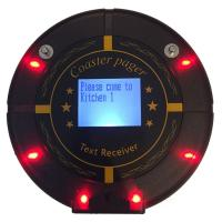 China Fast Food Vibrating Restaurant POS  Coaster Pagers Integrated with LED screen on sale