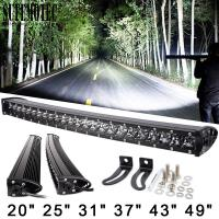 Quality 3D 120W 150W 180W 240W Super Slim Single Row Curved Led Light Bar Combo Beams For 4x4 Offroad SUV 4WD ATV Driving Work L wholesale