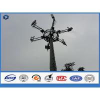 Quality 3mm Monopole Telecommunication Tower powerline poles , long life span electric post wholesale