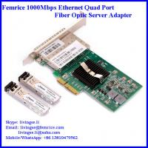 Quality 1000Mbps Quad Port Gigabit Ethernet PCI Express x4 Server Adapter, Intel 82580 Server NIC wholesale