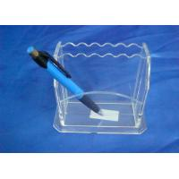 Quality Hard Clear 3mm Acrylic Stationery Holder LightweightWith Notes Box wholesale