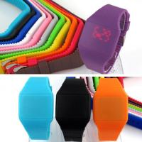 Quality DWG Silicone Digital Watch , Thin Silicone Touch Screen Watch Customized Color wholesale