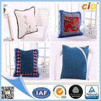 China Red / White / Blue Plain Modern Luxury Decorative Cushion Covers for Chairs on sale