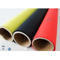Quality 1.5m C-glass High Intensity 40/40g Silicone Coated Fiberglass Fabric For Fireproof wholesale