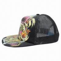 Quality Sports/Flat Peak Mesh/Sublimation/Snap Cap, Customized Designs Welcomed wholesale