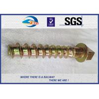 Quality 8.8 Grade 45# steel coach screws Spike with yellow zinc coating wholesale