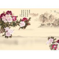 Quality 9Mm Thickness Advanced Technology Bamboo Wood Boards Peony And Poems Landscape wholesale