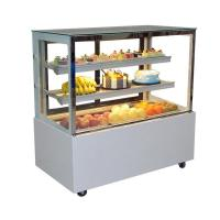 China Curved Glass Cake Display Refrigerator Bakery Showcase on sale