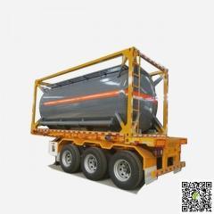 20FT ISO Tank Container 18 -21CBM HCl (max 35%), NaOH (max 50%), NaCLO (max 10%)