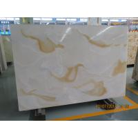 Quality White Quartz Solid Stone Countertops / Solid Surface Kitchen Countertops wholesale