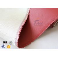 Quality 0.8mm High Silica Cloth High Temperature Silicone Coated Fiberglass wholesale