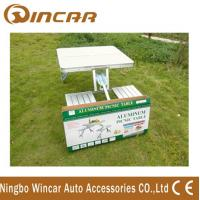 Quality Aluminum Outdoor Camping Tables / Four Person Folding Dining Table wholesale