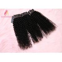 China Clean And Soft Virgin Indian Hair / Kinky Curl Sew In Weave Hair 30 on sale