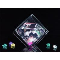 Quality Mini Rhombus Shaped / Custom Acrylic Fish Tank , Desktop Fish Bowl 3mm Clear wholesale