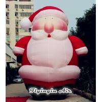 Quality 6m Height Giant Christmas Inflatable Santa Claus for Xmas Decoration wholesale