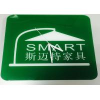 Quality Contemporary Custom Logo Clocks Promotional Square Office Clock Green wholesale