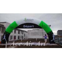 Quality custom giant 10m wide depart arrivee inflatable arch for marathon comes with removable banners wholesale