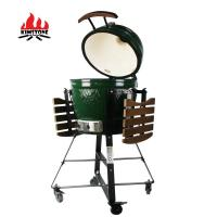 Quality 3-5 People Kamado Barbecue Grill Smoker 18 Inch Adjustable Height wholesale
