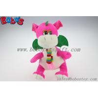 """Cheap China Manufacturer Pink Stuffed Dinosaur Animal With Scarf In 10"""" Size for sale"""