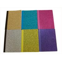 China 6.5 x 8.5 Glitter Cardboard Cover Notebook / Colorful Composition Notebook on sale