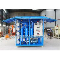 China High Efficiency Double Stage Vacuum Transformer Oil Filtering Machine,6000L Per Hour Dehydration Plant With Lifting Lugs on sale