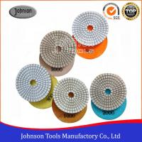 Cheap White Type Diamond Resin Polishing Pads , Stone Polishing Pads 75mm - 180mm for sale