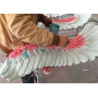 Quality Big Size Wing Shape Fiberglass Resin Statues Colorful Artificial Wing Decorations wholesale