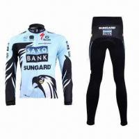 Quality Cycling Jacket and Pants with Reflective Piping and YKK Zipper wholesale