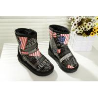 Quality New American flag boots winter boy/girl middle aged big child boots cotton shoes for kids wholesale