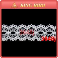 Quality Soft Touch Feeling No stretch Wide Lace Ribbon Trim / embroidered ribbon trim wholesale