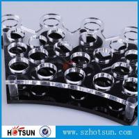 Cheap Factory directly acrylic shot glass tray,most popular product clear acrylic shot for sale