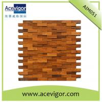Cheap Mosaic wood wall tiles for indoor decoration for sale