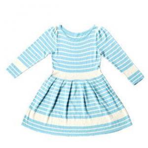 Lander Japanese Sweet Stripe  Wool Knitting Dress