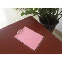 Cheap wholesale customize office stationery A3 A4 A5 acrylic plastic clip board with metal clip for sale