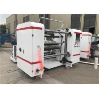 China Self Adhesive Label Paper Roll Rewinding Machine , Slitter Rewinder Machine Centralized Control on sale