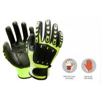 Buy cheap Custom working nitrile glove with TPR on back, 13G nylon yarn, sandy nitrile from wholesalers