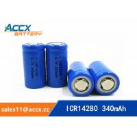 Cheap high quality icr14280 LED Lighting lithium battery 3.7V 340mAh 14280 rechargeable li-ion battery for sale