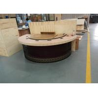 Quality New Design Restaurant Teppanyaki Grill Table with Semi-circle Table Top Decoration wholesale