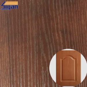 China PVC Furniture Film Texture Decorative PVC Wood Grain Film For Membrane Pressing on sale