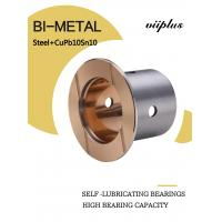 Quality SAE797 Steel With Cupb10sn10 Bimetal Sleeve Bearing Indents Oil Or Grease Welded Joint wholesale