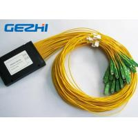 Quality LAN / WAN Mini Module Fiber Optic PLC Splitter blockless 0.9mm with SC / UPC Connector wholesale