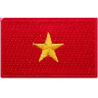 Quality Iron-on , twill 100% embroidered flag patches for school uniform and armed forces wholesale