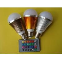 Quality hot sales RGB led bulb 5W remote control light bulb e27 wholesale