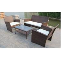 Quality Nice 4PCS All Weather Rattan Garden Furniture Outdoor Resin Wicker Sofa Set wholesale