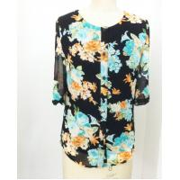 Quality Beautiful summer round neck ladies casual shirt , floral print shirt for women wholesale