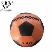 Quality PU Leather Wall Ball Gym Exercise Ball For Power Training 5kg - 20kg Weight wholesale
