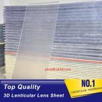 Quality 70LPI PET 0.9MM 60X80CM Lenticular Plastic lens for 3d lenticular printing by injekt print and UV offset print wholesale